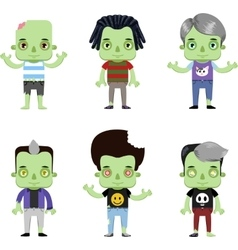Male Zombie Avatar set vector image vector image