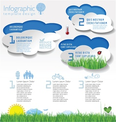 Modern ecology template vector