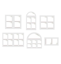 Objects windows set vector