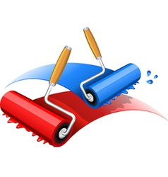 paint rollers vector image
