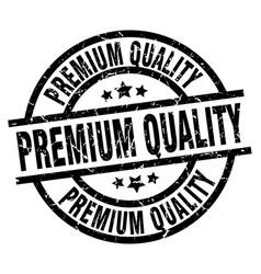 Premium quality round grunge black stamp vector