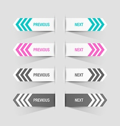 Previous and next buttons vector image vector image