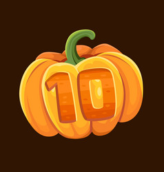 pumpkin icon for slot game vector image