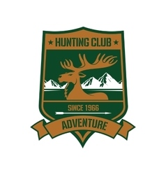 Rocky mountain elk badge for hunting design vector