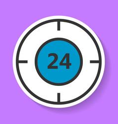 Round-the-clock service icon vector