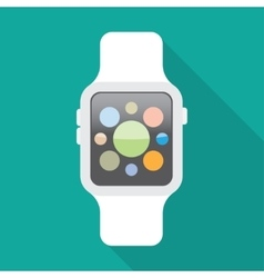 Smart watch flat icon vector