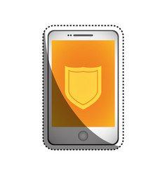 Smartphone shield security vector