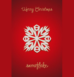 snowflake on a red background vector image