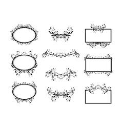 Swirl Monograms Border vector image