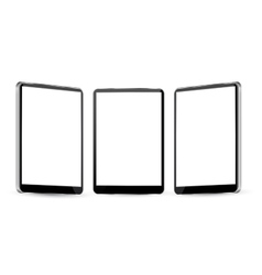 tablet with different views vector image vector image