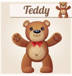 Teddy bear love hugs vector