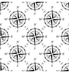Vintage compass seamless pattern vector