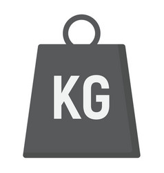 weight symbol flat icon logistic and delivery vector image