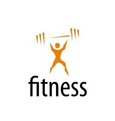 logo fitness vector image