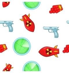 Weaponry pattern cartoon style vector