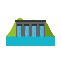 Hydroelectric dam isolated icon vector
