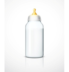 Milk bottle with nipple vector