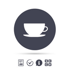 Coffee cup sign icon coffee button vector
