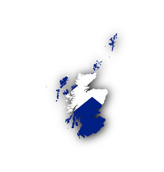 Map and flag of scotland vector