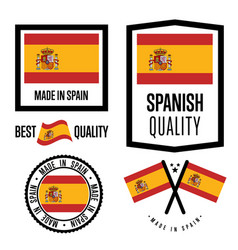 Spain quality label set for goods vector