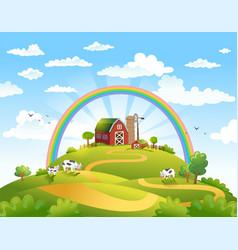 happy farm vector image