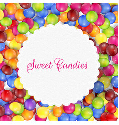 Candy frame background vector