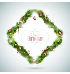 Greeting card with christmas attributes vector