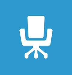 Office chair icon white on the blue background vector