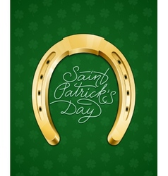Saint patricks day lettering vector