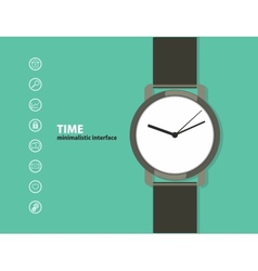 Time Minimalistic Web and mobile interface vector image
