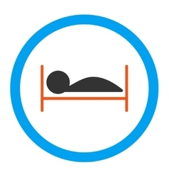 Patient bed rounded icon vector