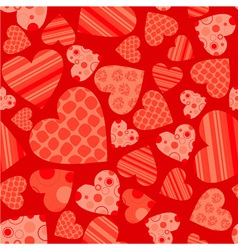 Seamless valentine pattern vector