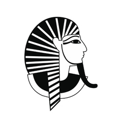 Egyptian pharaoh icon simple style vector image