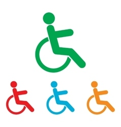 Disabled sign colorfull set vector