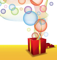 gift box and bubble vector image