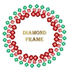 Diamond round frame vector