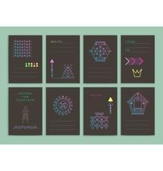 Modern creative cards vector