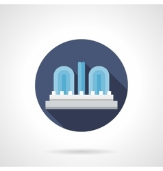 City fountain round flat color icon vector