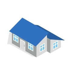 House with annexe icon isometric 3d style vector