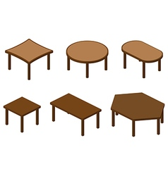Set of isometry tables vector