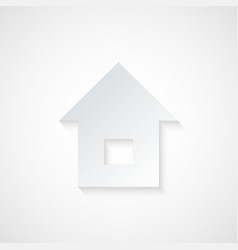 Abstract Paper Home Icon vector image vector image