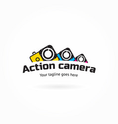 action camera icon logo element vector image