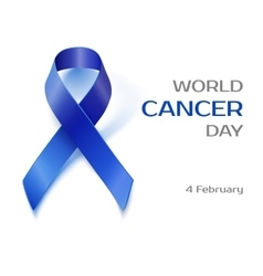 Awareness blue ribbon isolated on white vector