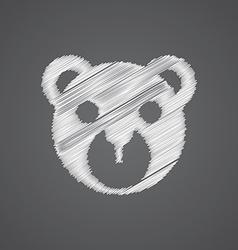 Bear toy sketch logo doodle icon vector