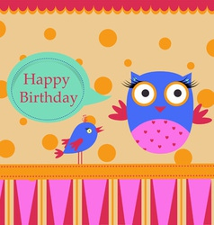 Birthday Template greeting card vector image