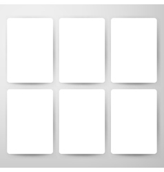 Blank cards mockup template vector