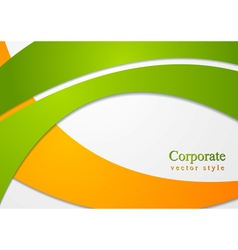 Bright corporate card design vector