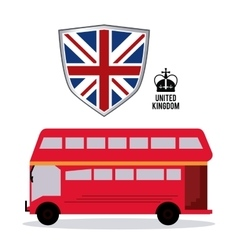 bus icon United kingdom design graphic vector image vector image