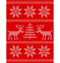 christmas stitch vector image vector image