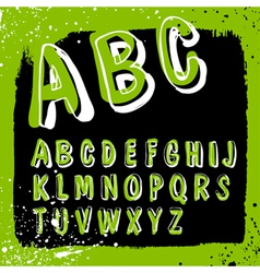 doodles alphabet grunge vector image